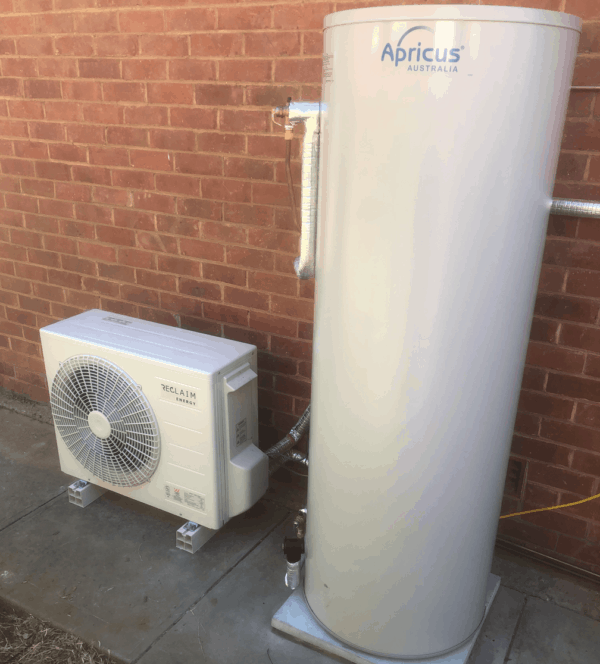Reclaim Energy Co2 Hot Water Heat Pump installed in Woodville, Adelaide
