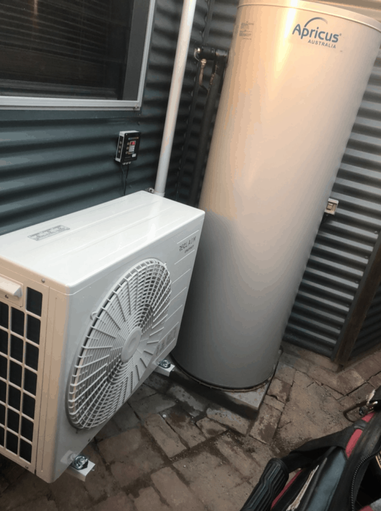 Reclaim Energy Co2 Hot Water Heat Pump installed in Aldinga